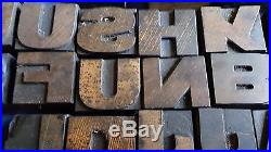110 Vintage/Antique Wooden Printing Block Letters and Numerals
