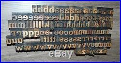 128 5/8 Wood Letterpress Printing Blocks Type Lower Case