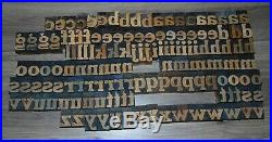 136 Wood Letterpress Printing Blocks Type Lower Case Alphabet