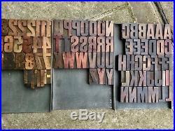 14 Line De Little Letterpress vintage wood type wood letter wood alphabet