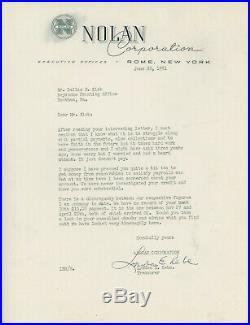 1951 Nolan Corporation Letterhead Rome New York NY Printing Equipment Machinery