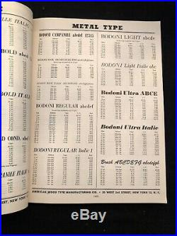 1953-54 Printers Supplies Catalog American Wood Type Equipment For Printing NY