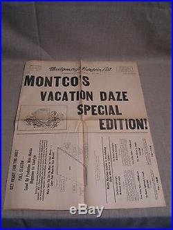 1961 Montco Towanda PA. Linotype Printing Press Parts & Equipment Sale Flyer