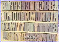 2.5 Clarendon 15 Line Wood Type Vandercook LETTERPRESS Printing 50pcs