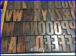 2.5 wood type letterpress wood type wood letter printing alphabet