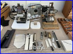 (2) Hot Foil Stamping Machines Kingsley Howard Type Sets Foil Accessories