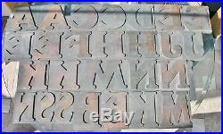 27 x Wooden Letterpress Type COOPER BLACK Bold Serif Poster Letters Printing 5