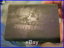 3 Antique Rare Printing Blocks Tractor Equipment Disc Sprayer Paper Weights