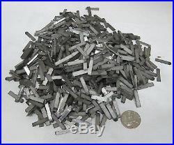 3+LBS TINY Old Metal Type Set Printing Press Typeset Letter 100++ Lot I