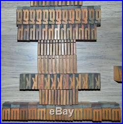 336 1 5/16 Wood Letterpress Printing Blocks Type Lower Case Alphabet