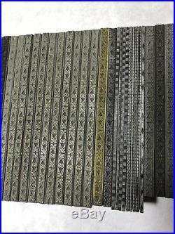 43 Piece Lot Of Assorted Borders Wood & Metal Type Letterpress Printing Vintage