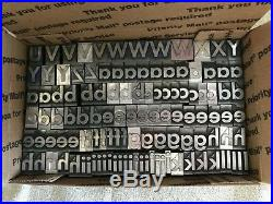 5/8 inch Metal Letterpress Type, upper and lower case, numbers and punctuation