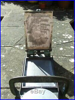 ADANA LETTERPRESS PRINTING MACHINE Model QH Horizontal Quarto FLATBED No Rollers