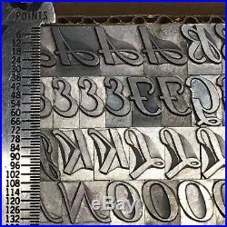 Ad Script 36 pt Letterpress Type Printer's Metal Lead Printing Sorts