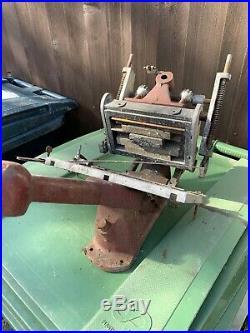 Adana Model No 2 H. S. Letterpress Printing Press WITH HAPPY CHRISTMAS PLATE