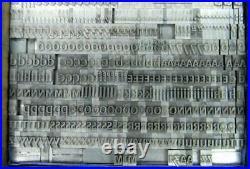 Alphabet Letterpress Print Type French Import 24pt Peignot Medium MN18 8#
