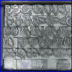 Alphabets Letterpress Print Type Import ta 52pt Rhapsodie Swash Caps MM61 8#