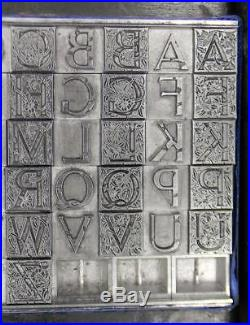 Alphabets Letterpress Print Type Monogram 36pt 2/C Massey Initials ML89 4#