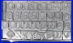 Alphabets Metal Letterpress Print Type 48pt Lombardic Capitals ML54 6#