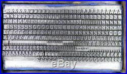 Alphabets Metal Letterpress Print Type Antique 12pt Mandarin ML58 3#