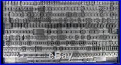 Alphabets Metal Letterpress Print Type Import Italy 18pt Nova Augustea ML81 5#