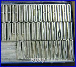 Alphabets Metal Letterpress Printing Type 48pt EMPIRE caps MN51 3#