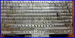 Alphabets Metal Letterpress Type TITLE 24pt Gothic Bold Expanded MM69 9#