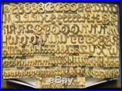 Alphabets WOOD Letterpress Print Type Import SB 6line 1 Glenmoy 146pc MW02