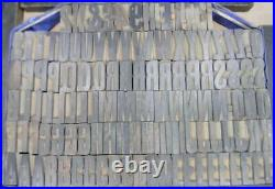 Alphabets WOOD Letterpress Type 6line 1 Gothic Condensed MW11 2