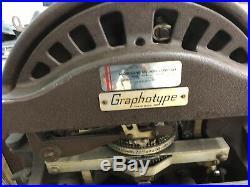 Antique Addressograph Graphotype Machine 6381