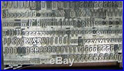 Antique Import Metal Letterpress Printing Type 48pt Pen Print Bold D10 19#