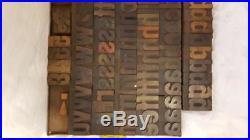 Antique Letterpress Gothic Bold Wood Type lower case 10 line (1-2/3)q91