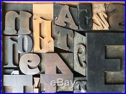 Antique Letterpress Printers WOOD TYPE Mix 57 Pieces