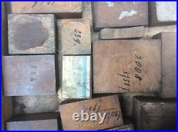 Antique Printers Tray And Copper Printing Blocks