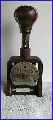 Antique Stamp Bates Numbering Machine Stamp 7 Wheels Style E Printing Equipment