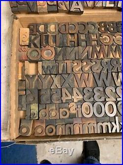 Big lot font of 24 pt letterpress type FUTURA medium very good shape