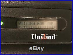 Boxed UNIBIND S90 Thermal Steel Back Binding Machine binder printing equipment