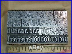 Cloister Black 48 pt. Letterpress Metal type Printers Type