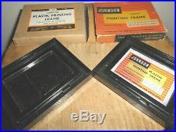 Darkroom Equipment. A Pair Of JOHNSON PLASTIC PRINTING FRAMES