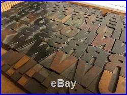 Delittle Wood Type Font 189 8 Line / 34mm Wood Letters