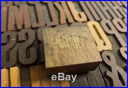 Delittle Wood Type Font 254 6 Line / 25mm Wood Letters