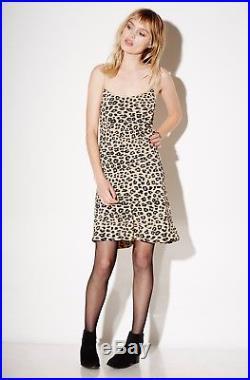 EQUIPMENT x KATE MOSS'jessa bias slip dress' leopard print animal silk cami L