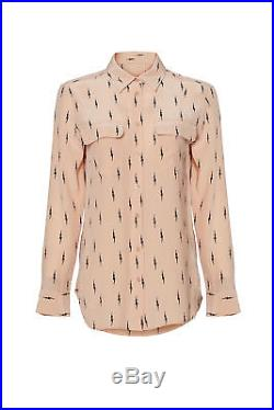 Equipment Pink Women's Size XS Lightning Print Button Down Shirt $278- #755
