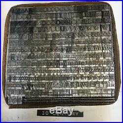 Garamond Bold 30 pt Letterpress Type Vintage Metal Lead Sorts Font Print