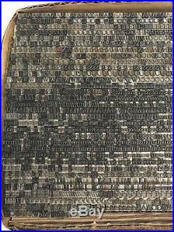 Goudy Italic 10 pt Letterpress Type Vintage Printer's Lead Metal