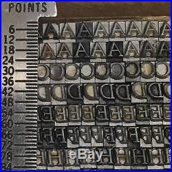 Goudy Italic 12 pt Letterpress Type Vintage Printer's Lead Metal