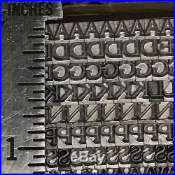 Goudy Light 12 pt Letterpress Type Vintage Printer's Lead Metal Printing