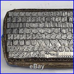 Homewood 18 pt Letterpress Type Vintage Printer's Lead Metal Type