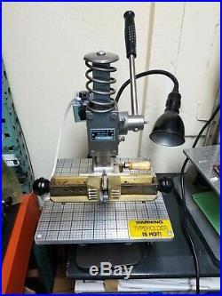 Hot Foil Stamping Machine KWIKPRINT 55 Lightly Used Typeholder 1x 5.75 GREAT
