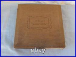 KINGSLEY HOT Foil STAMP GREEK Letters TYPE PRINT IN BOX Vintage